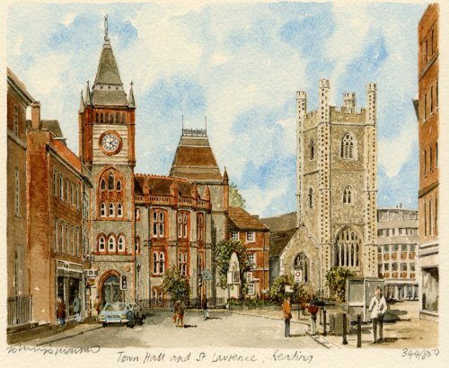 Reading - Town Hall & St. Laur by Philip Martin