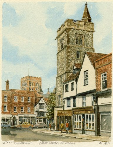 St. Albans - Clocktower by Philip Martin