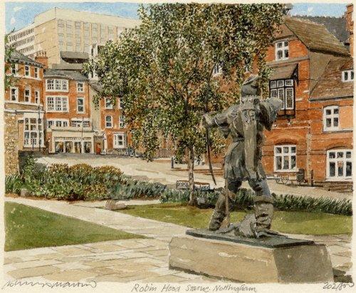 Nottingham - Robin Hood'sStat. by Philip Martin