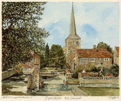 Eynsford - the Church by Philip Martin