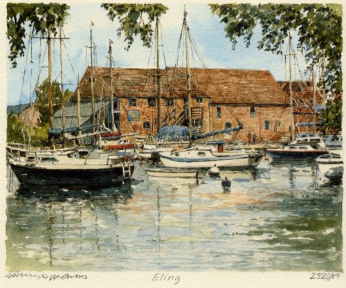 Eling - Tide Mill by Philip Martin