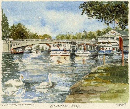 Caversham -Bridge by Philip Martin