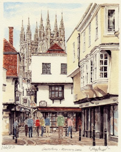 Canterbury - Mercery Lane by Glyn Martin