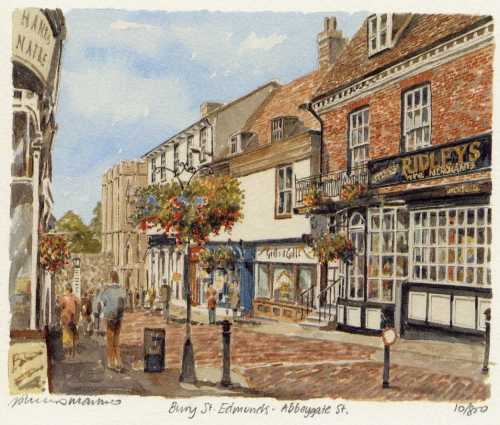 Bury St. Edmunds -Abbeygate St by Philip Martin