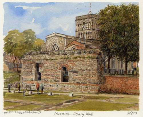 Leicester - Jewry Wall by Philip Martin