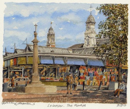 Leicester - The Market by Philip Martin