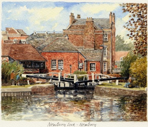 Newbury Lock by Philip Martin