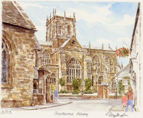 Sherborne Abbey by Glyn Martin