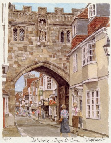 Salisbury - High Street Gate by Glyn Martin