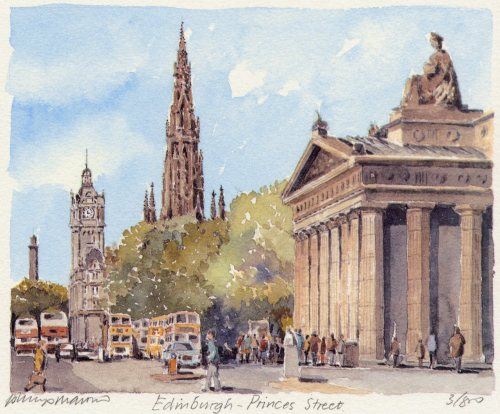 Edinburgh - Princes Street by Philip Martin