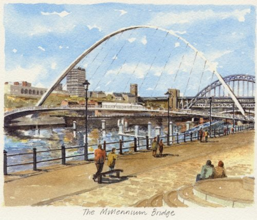 Newcastle - Millennium Bridge by Philip Martin