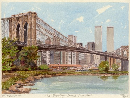 New York- Brooklyn Bridge by Philip Martin