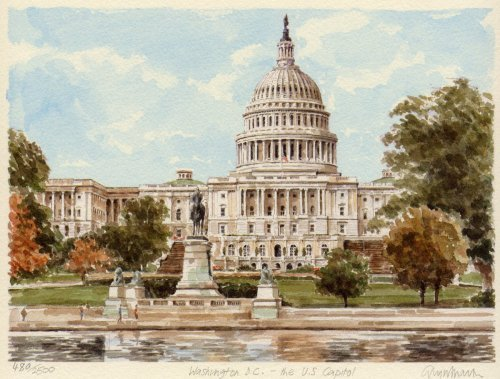 Washington - US Capitol by Glyn Martin