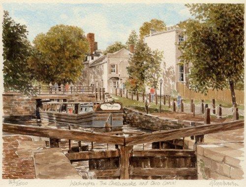 Washington - Ches & Ohio Canal by Glyn Martin