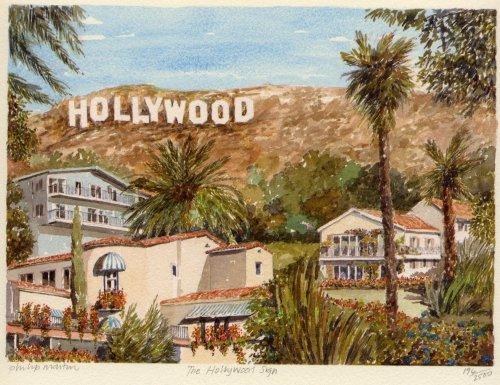 Los Angeles - Hollywood sign Art Print by Philip Martin at ...