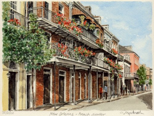 New Orleans - French Qtr. by Glyn Martin