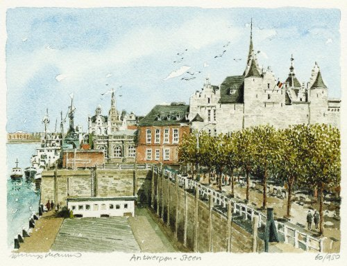 Antwerpen - Steen by Philip Martin