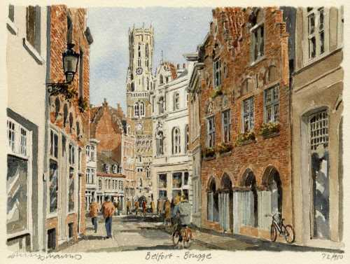 Brugge - Belfort by Philip Martin