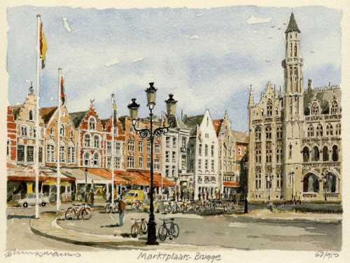Brugge - Marktplaats by Philip Martin