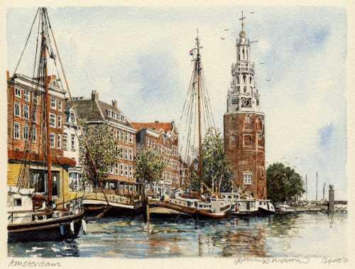 Amsterdam - Clock Tower by Philip Martin