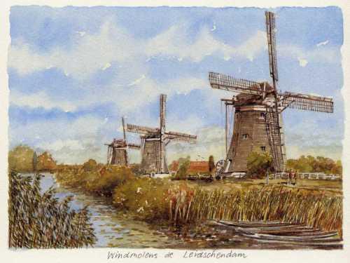 Windmolens de Leidschendam by Philip Martin