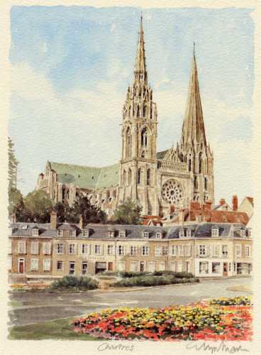 Chartres - face by Glyn Martin