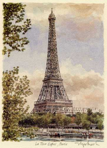 Paris - Tour Eiffel by Glyn Martin