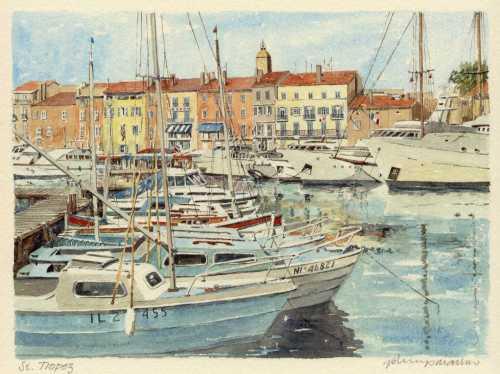 St. Tropez - le port by Philip Martin