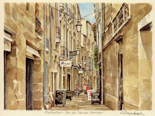 Montpellier - R. l'Anc. Cour by Glyn Martin