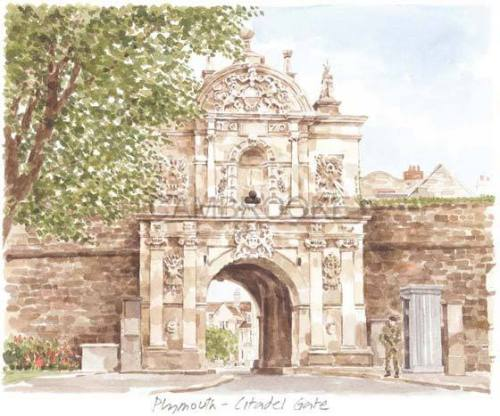 Plymouth - Citadel Gate by Glyn Martin