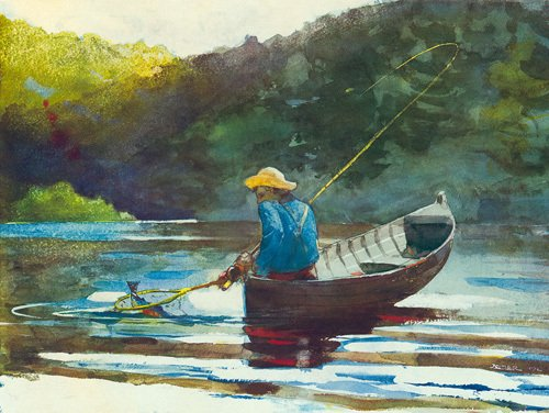 Boy Fishing 1892 by Winslow Homer