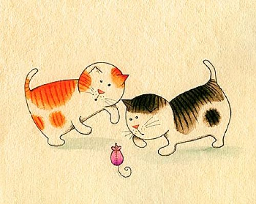 Playful Kittens I by Kate Mawdsley