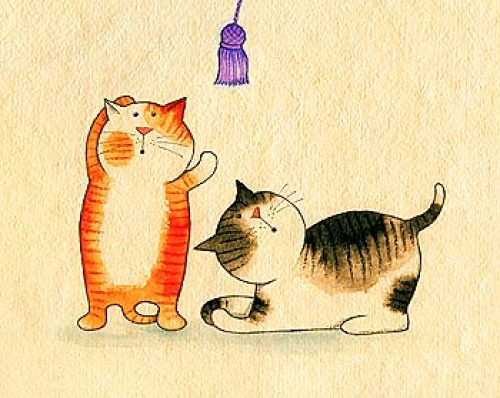 Playful Kittens III by Kate Mawdsley