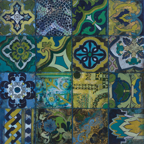 Cobalt Mosaic II by John Douglas
