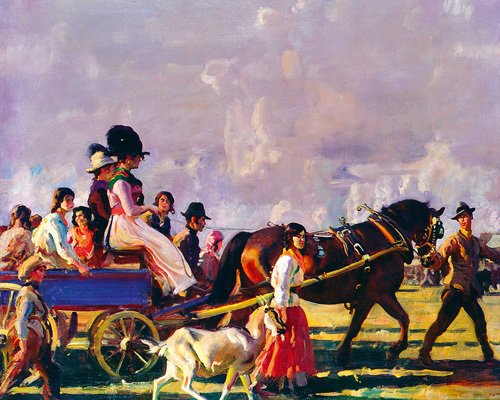 Arrival at Epsom by Sir Alfred Munnings