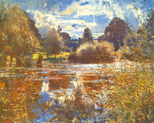 The Full River by Sir Alfred Munnings