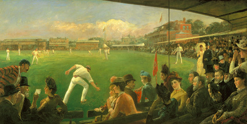 Imaginary Cricket Match England versus Australia 1886 by Sir Robert Ponsonby Staples