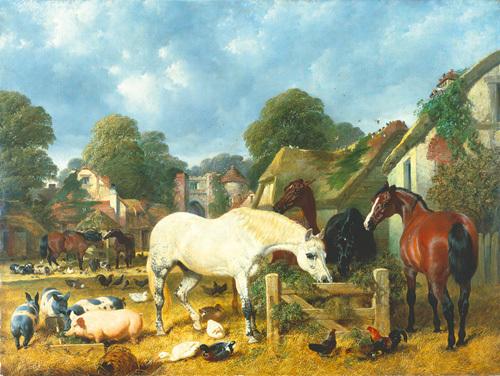 In the Paddock by John Frederick Herring