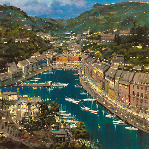 Portofino Twilight by Mario Sanzone