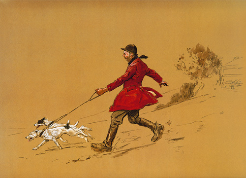 The Terrier Man by Lionel Edwards