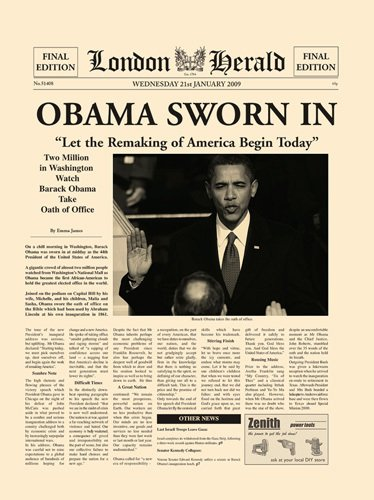Obama Sworn In by London Herald