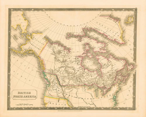 British North America by Sidney Hall