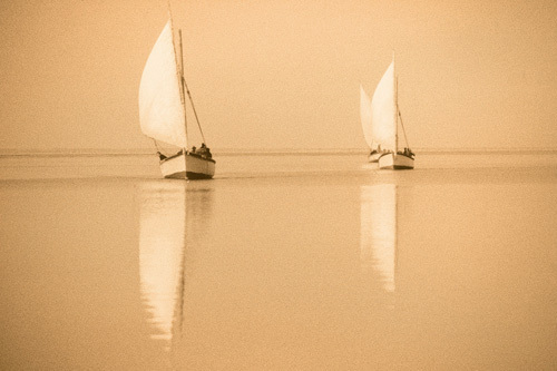 Nile Boats by Jon Hart Gardey