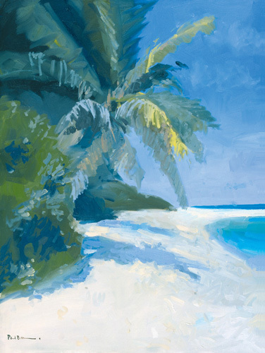 Tropical Beach II by Paul Brown