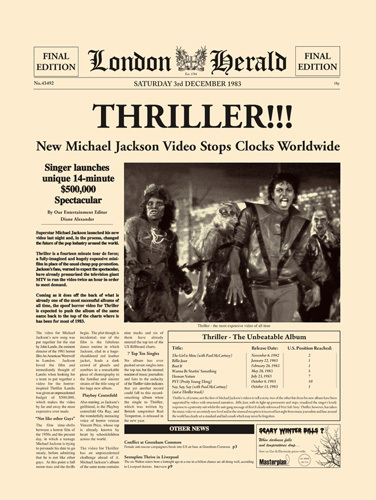 Thriller by London Herald