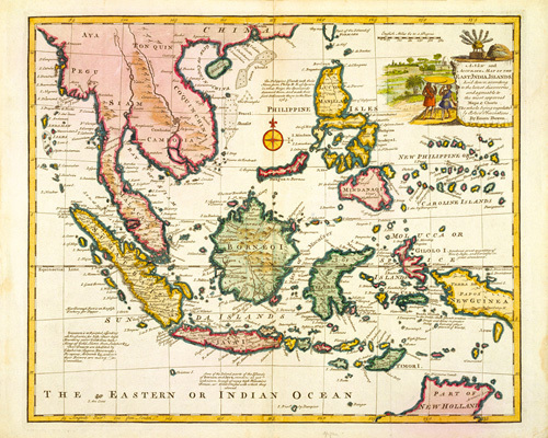 East India Islands 1747 by Eman Bowen