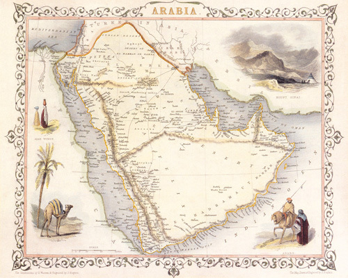 Arabia 1851 by John Tallis