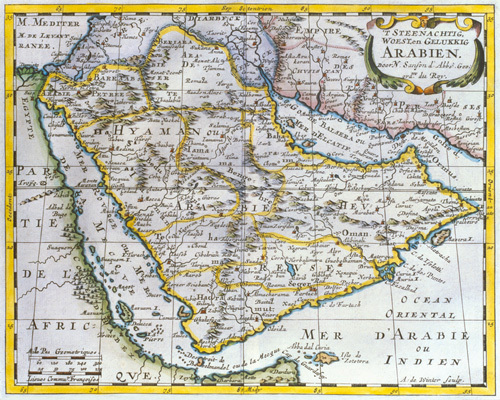 Arabia 1851 by Nicolas Sanson