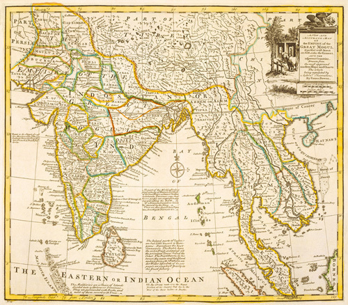 The Empire of the Great Mogul 1747 by Eman Bowen