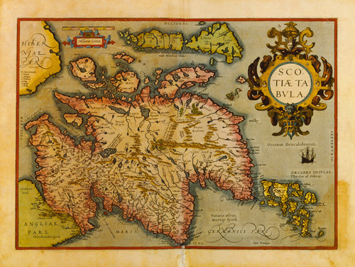 Scotiae Tabula 1573 by Abraham Ortelius